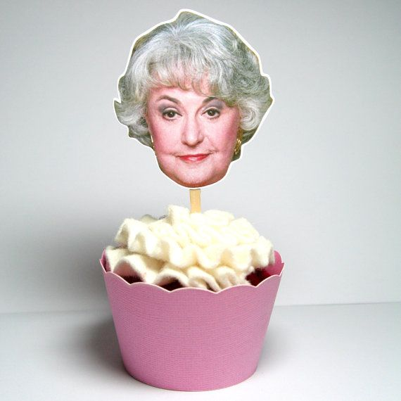 Golden Girls Cupcake Toppers Set of 12 by PaperPartyParade on Etsy, $6.00