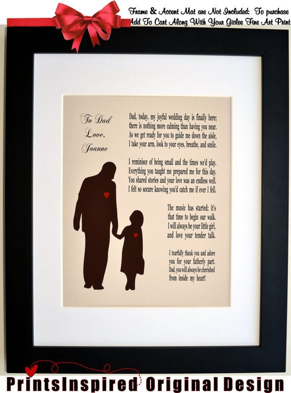i literally almost just cried. thats it.  Personalized Father Of The Bride Wedding Thank by Printsinspired, $19.99