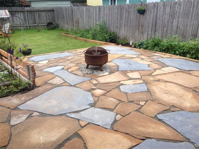 7 best landscaping images on pinterest flagstone patio