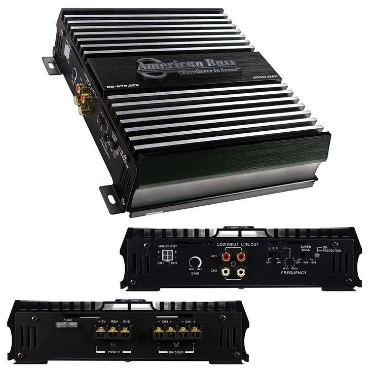 American bass 2 channel class ab ampilfier 500 watts max