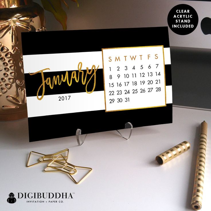 2017 Desk Calendar by Digibuddha | Tory Black