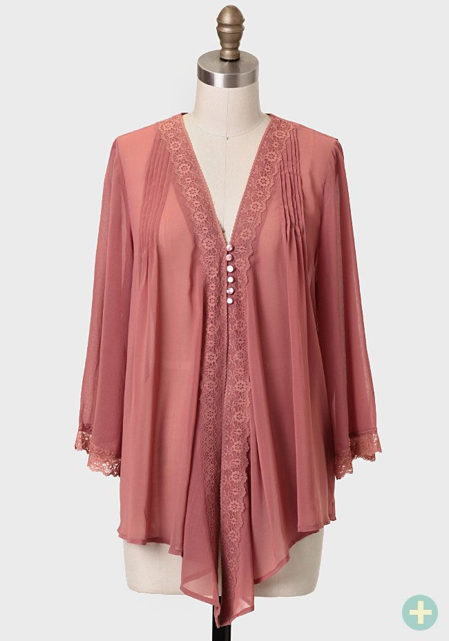 Rhapsody Lace Detail Curvy Plus Blouse at #Ruche @Ruche