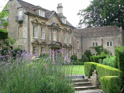 The Country Squire English Manor, with Formal yet Modest Garden Design.