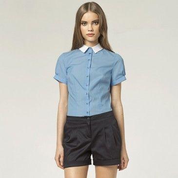 Koszula k42 - niebieski  | Nie zwlekaj i sprawdź! | SHOWROOM - SHWRM.pl