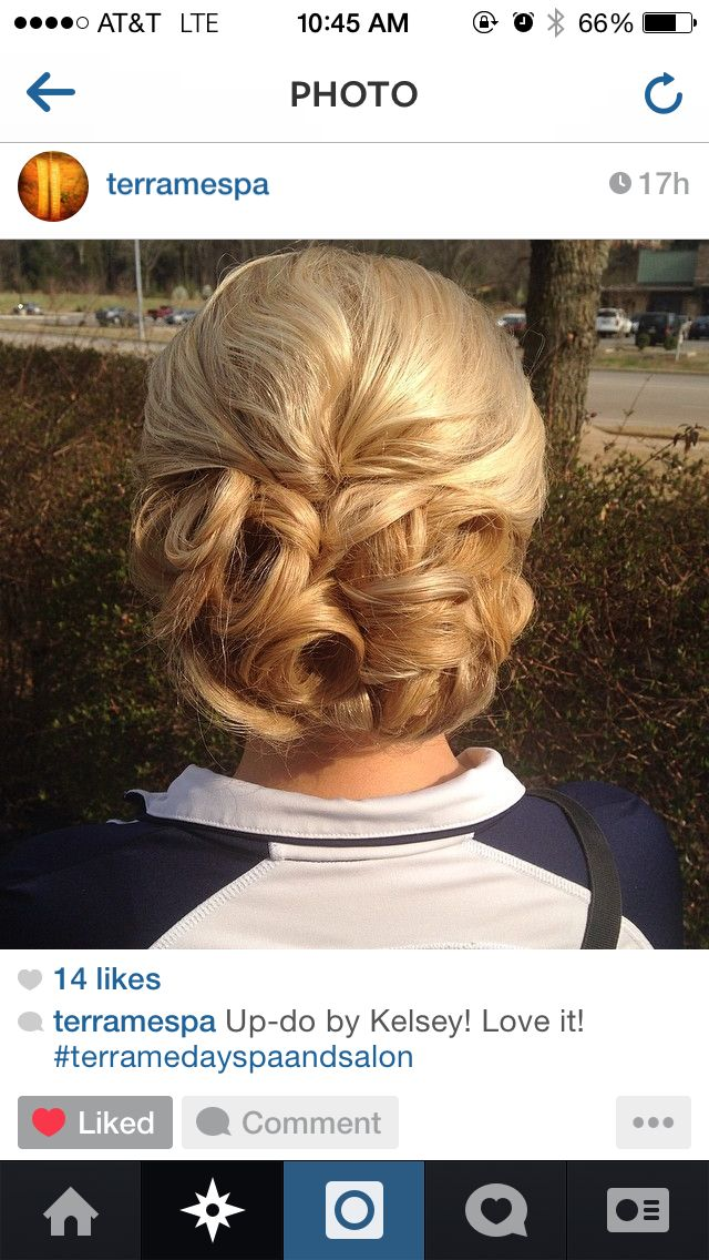 My prom hair 2014 #prom #updo