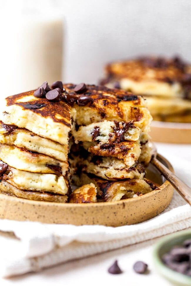 Chocolate Chip Pancakes - Two Peas & Their Pod | Chocolate ...