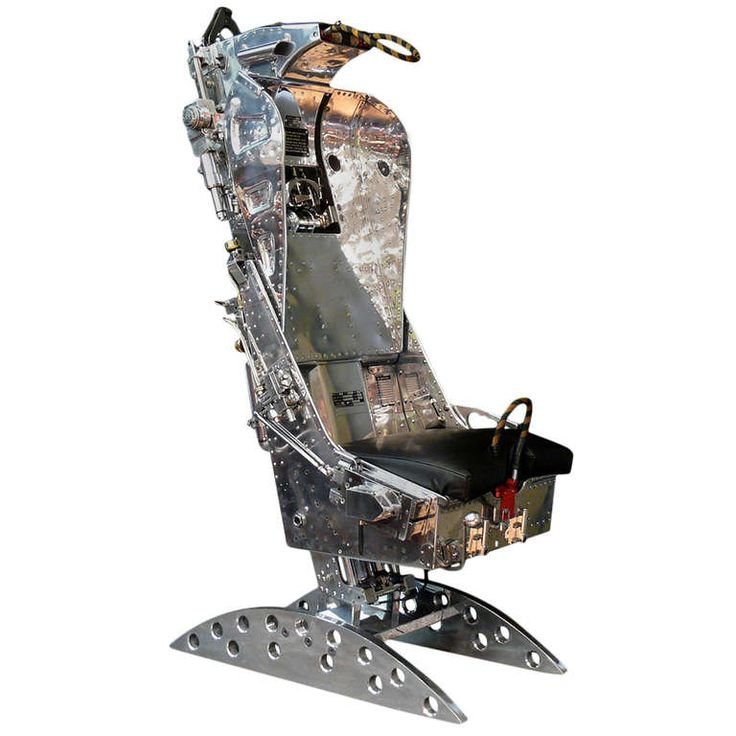 Polished Martin Baker Ejection Seat from 1960s de Havilland Sea Vixen Fighter
