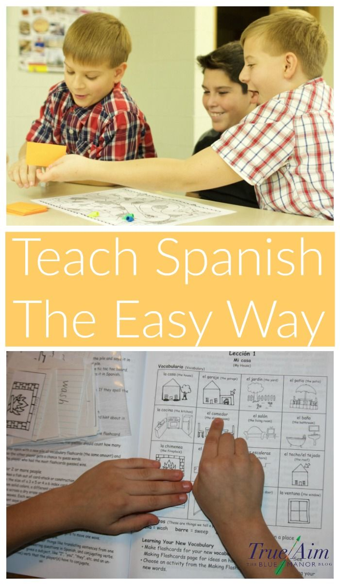 You don't know how to speak Spanish, so how are your kids going to learn? You can homeschool Spanish the easy way! Here's how...