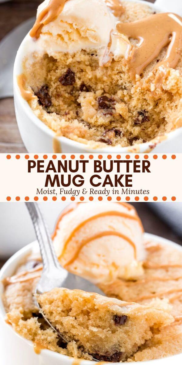 Peanut Butter Mug Cake Recipe Peanut Butter Recipes Mug