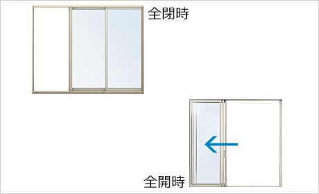 全開放窓 ワイドスライディング | YKK AP株式会社