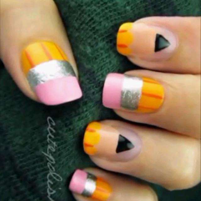 54 best pencil nail art images on pinterest pencil nails nail pencil nails prinsesfo Gallery