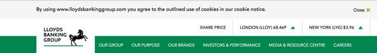 Copy - Cookies - Lloyds Bank Group - Above primary nav - Desktop