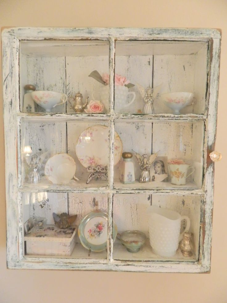 Old Window Frame Turned Into A Cabinet To Hold Special