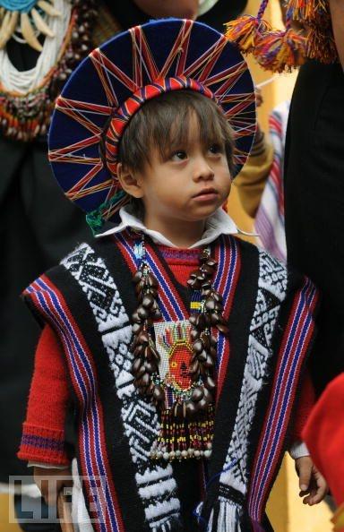 Niño perteneciente a la etnia indígena  Sibundoy de la región del Putumayo  Colombia