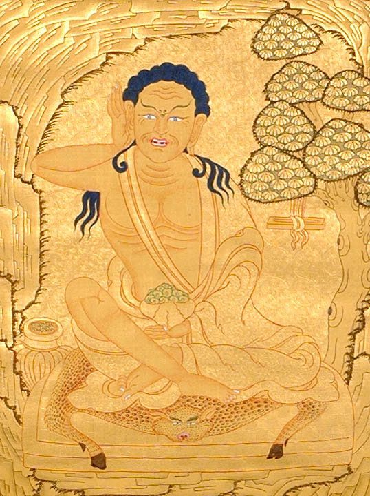 Milarepa, famous yogi and poet, student of Marpa, important in the Kagyu school of Tibetan Buddhism