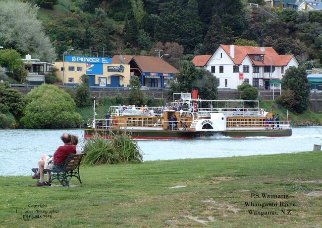 """""""Waimarie"""" Riverboat paddlesteamer. The real thing!!"""