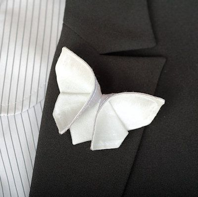 Lilly Oh White Butterfly Boutonniere for the Groom https://www.etsy.com/uk/shop/SewSmashing?ref=unav_listing-r