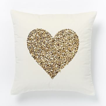 St. Jude Embellished Jingle Pillow Cover - Heart #westelm