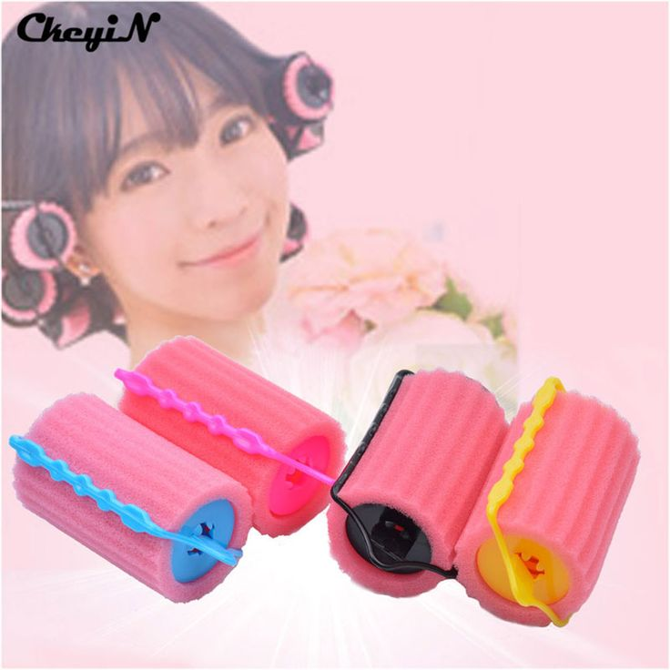Large Size 4pcs Magic Sponge Hair Curlers Hair Curling Rollers DIY Wavy Hair Curls Soft Foam Cushion Hair Rollers HS43-43P