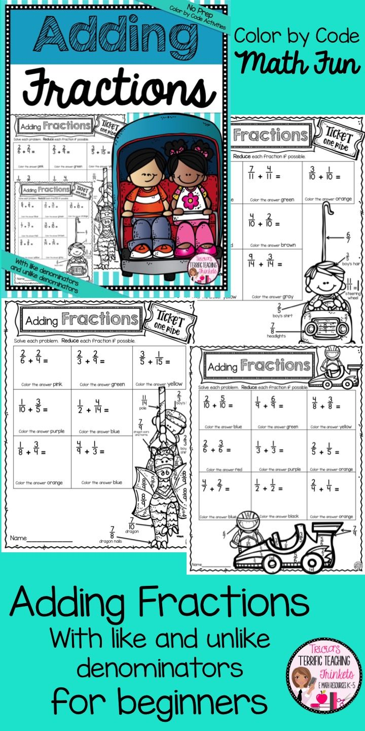 38 best Fractions images on Pinterest | Equivalent fractions ...