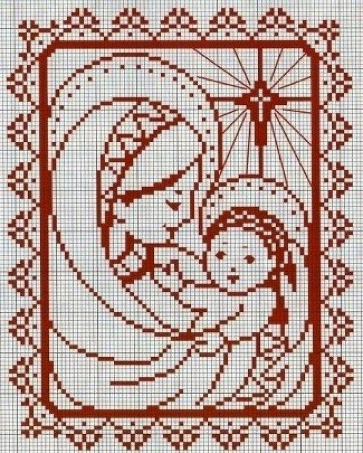 madonnina monocolore | Hobby lavori femminili - ricamo - uncinetto - maglia