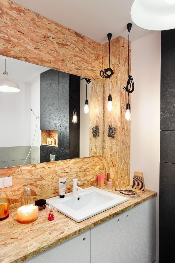 Osb id es d co avec panneaux de bois deco salle de - Deco salle de bain bois ...