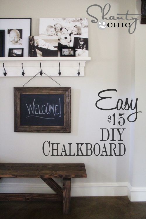 Restoration Hardware Inspired DIY Chalkboard
