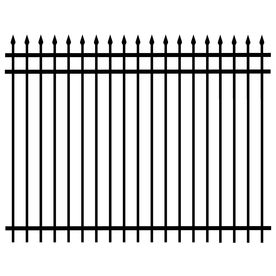 �60-in x 96-in Black Galvanized Steel Fence Panel  lowes $170