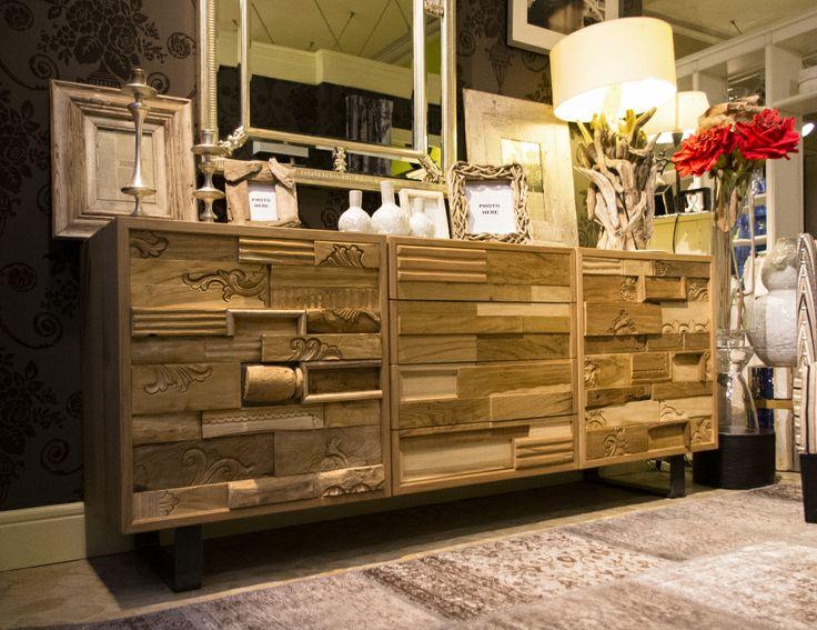 Mobile realizzato con legni di recupero realizzato nella nostra falegnameria 1 #arredo #interior design #valter pisati