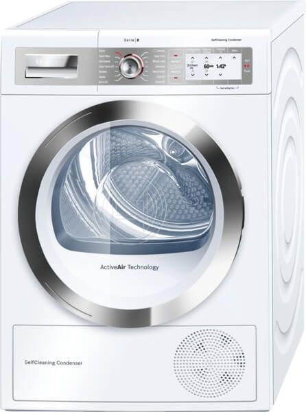 Bosch WTYH6790GB HOME CONNECT Heat Pump Dryer, 9kg Capacity, A++ Energy. The fast drying feature dries a full load 35 minutes quicker then before, therefore you get the laundry done quicker. Leaving you with time to do things that you enjoy. If you forgot to put the machine on last night for your best jumper, you can now have it ready just before you need to leave. 2 Year warranty.