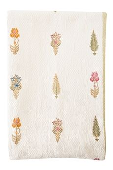 Love Love This. Queen is marked half off and now 90.00 Goodearth - Iris Garden Cotton Pique Bed Cover
