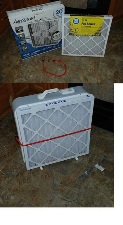 DIY air purifier.  Genius