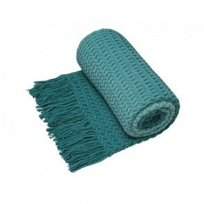 Logan and Mason Ombre Throw Turquoise
