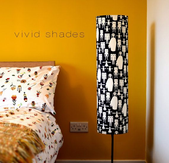 8 best frolic footle handmade lampshades images on pinterest tall lampshade with floor lamp base option funky fabric handmade by vivid shades monochrome figures retro cool stylish scandi halloween aloadofball Choice Image