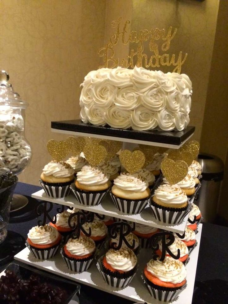 Best 25 Black and gold birthday cake ideas on Pinterest Black