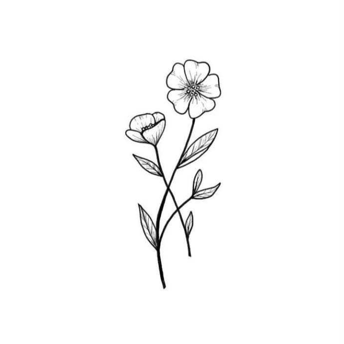 Basic Skinny Jeans Beautiful Flower Drawings Simple Flower Tattoo Flower Drawing