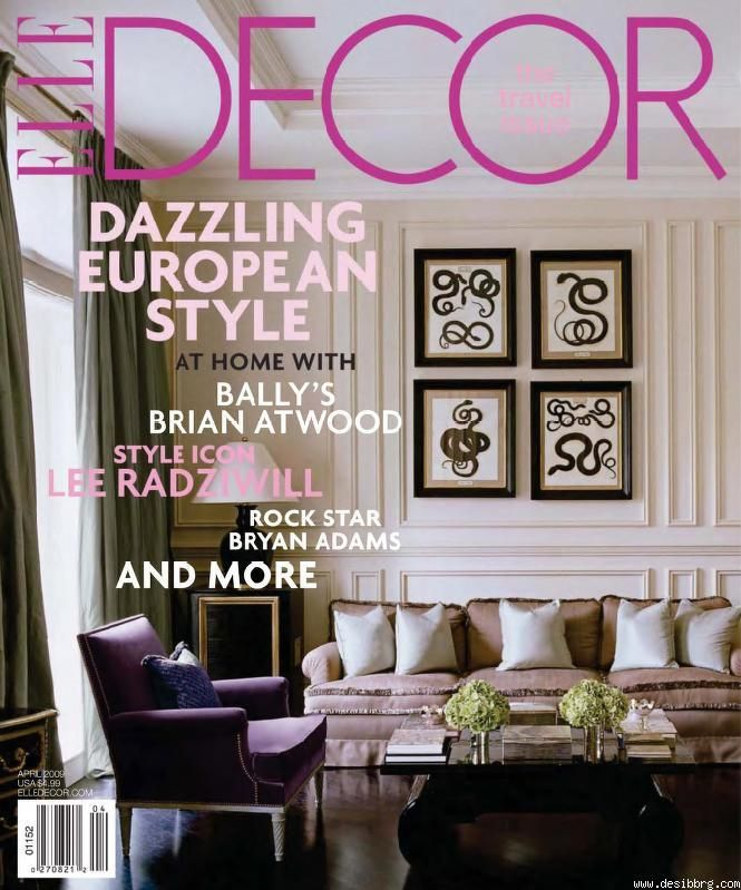 i like the different fonts that still go together and how the text color matches - Decor Magazine