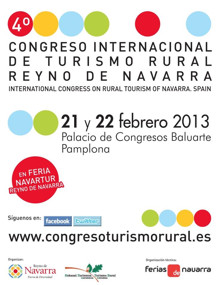 VI Congreso Internacional de Turismo Rural Reyno de Navarra. 21 y 22 de febrero de 2013. Baluarte. #Pamplona  International Congress on Rural Tourism of Navarra, Spain  www.navartur.es