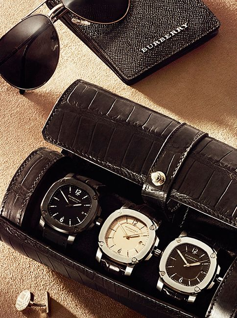 A very nice set of watches.  Patek Aquanaut look-alikes. The Britain watch and leather accessories - gifts for him this festive season