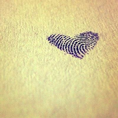 It would be cute if the fingerprints were of a husband and wife. Then get it framed in between both of their vows