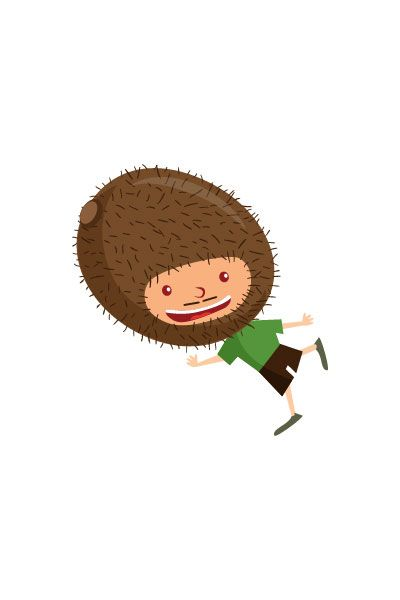 Kiwi Kid Vector #kiwi #vector #fruits #handdrawvector http://www.vectorvice.com/fruit-kids-vector-pack