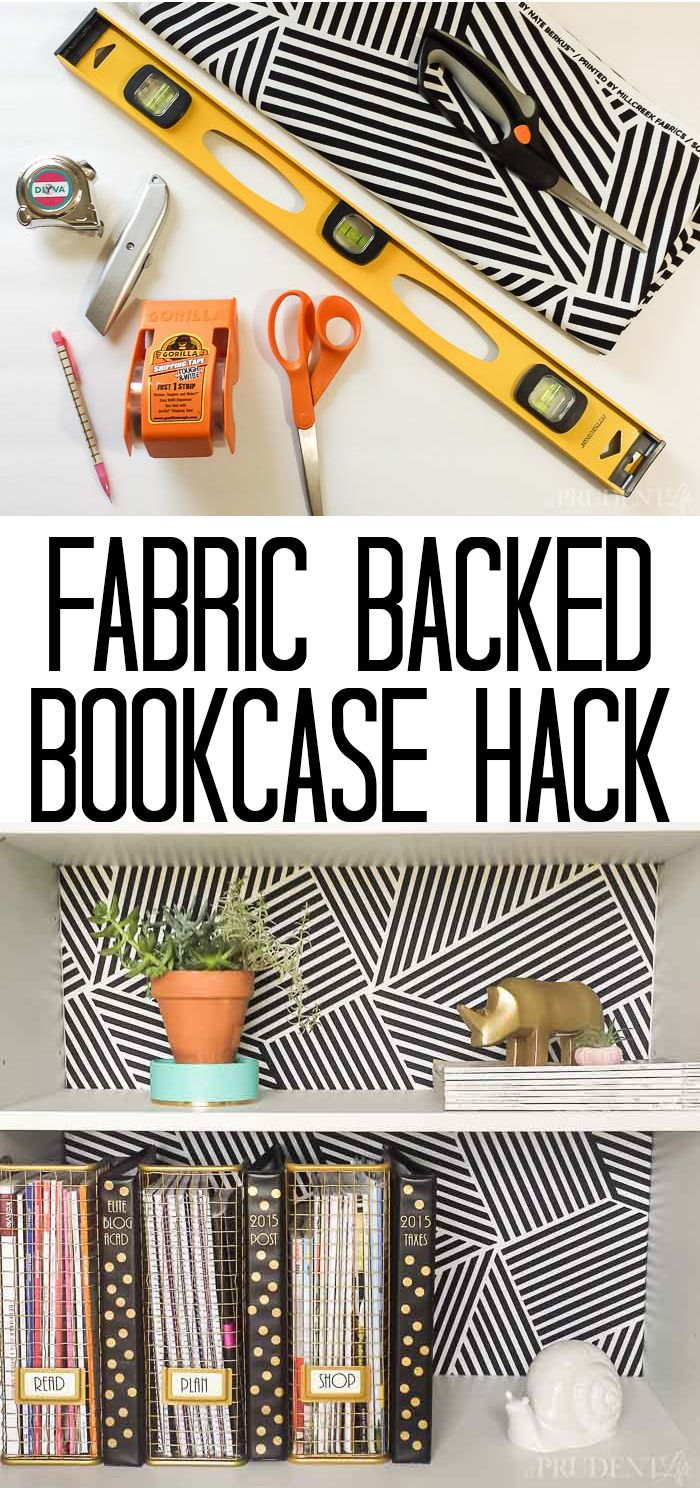 Add fabric to the back of your shelves (it's an easy upgrade for boring Ikea ones!)