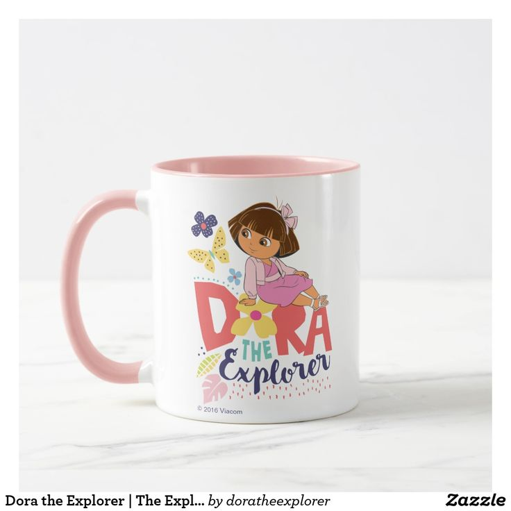 Dora the Explorer   The Explorer. Regalos, Gifts. Producto disponible en tienda Zazzle. Tazón, desayuno, té, café. Product available in Zazzle store. Bowl, breakfast, tea, coffee. #taza #mug