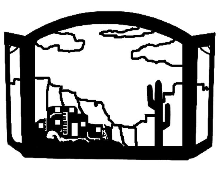 Adobe Pueblo Design Southwestern Fireplace Screen exclusive design american made of heavy recycled steel EXCLUSIVE Southwest Decor Fire Screen