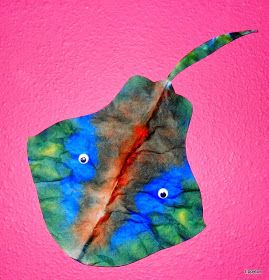Tippytoe Crafts: Coffee Filter Stingray