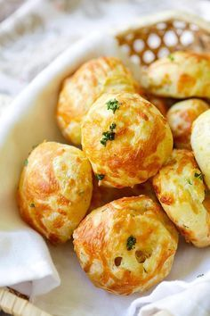 The best and easiest recipe for puffy, light and airy French cheese puffs. Loaded with mozzarella and parmesan cheese, so good!!