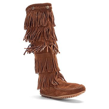 Minnetonka 5 Layer Fringe Boot found at #OnlineShoes