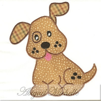 Doggie Applique 3 Sizes Animal And Bug Embroidery