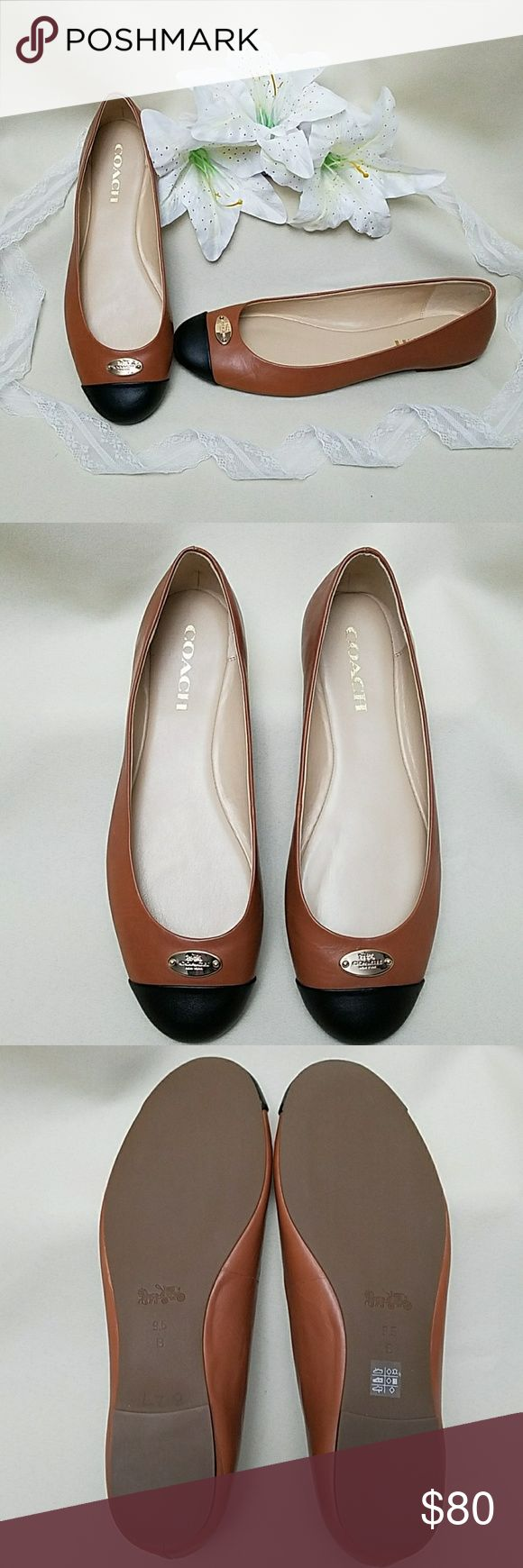 """*NWT COACH Brown & black loafers/flats Classy """"Ashley"""" brown & black loafers/fla…"""