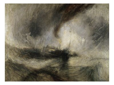 Snow Storm painting by JMW Turner
